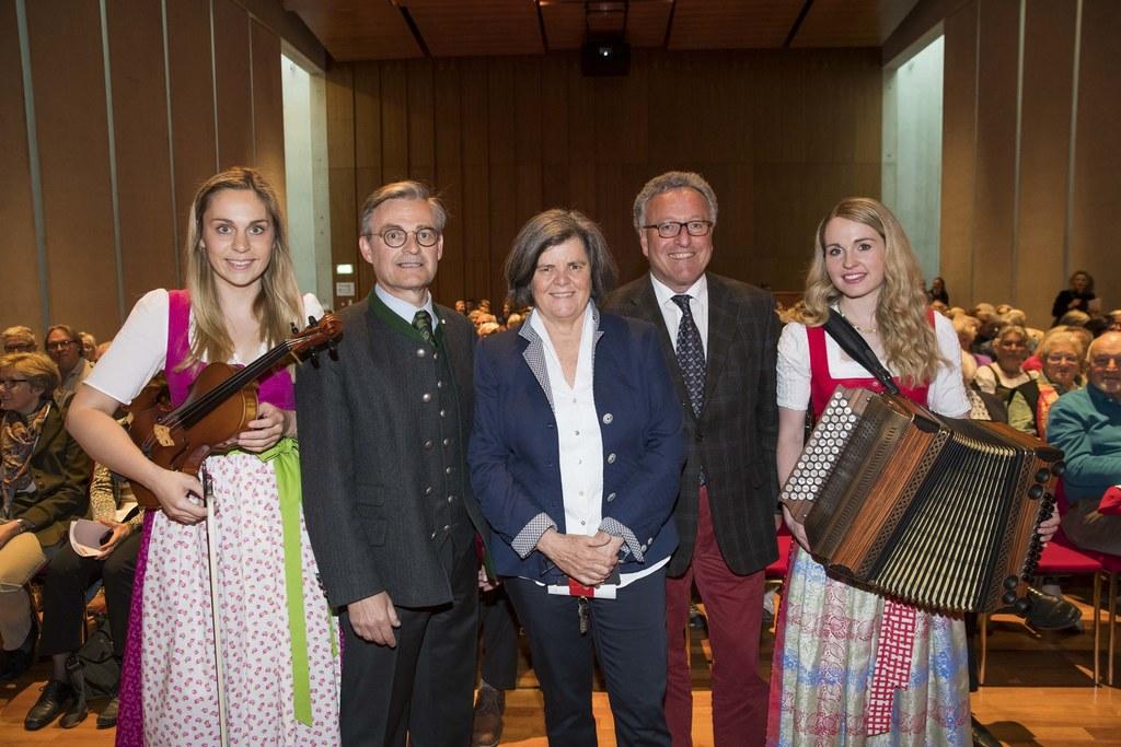 25 Jahre Studienlehrgang Volksmusik am Mozarteum im Bild: Verena Schwarz, Anton ..