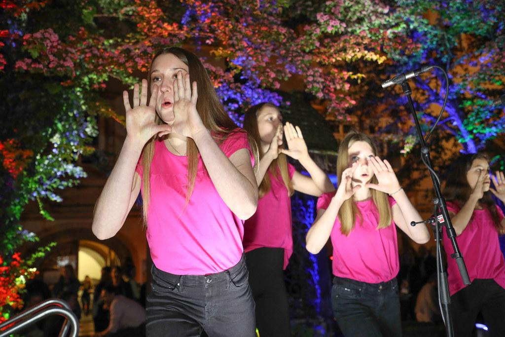 Salzburgs Sängerinnen und Sänger zeigen gerne, was sie können, wie hier bei der ..