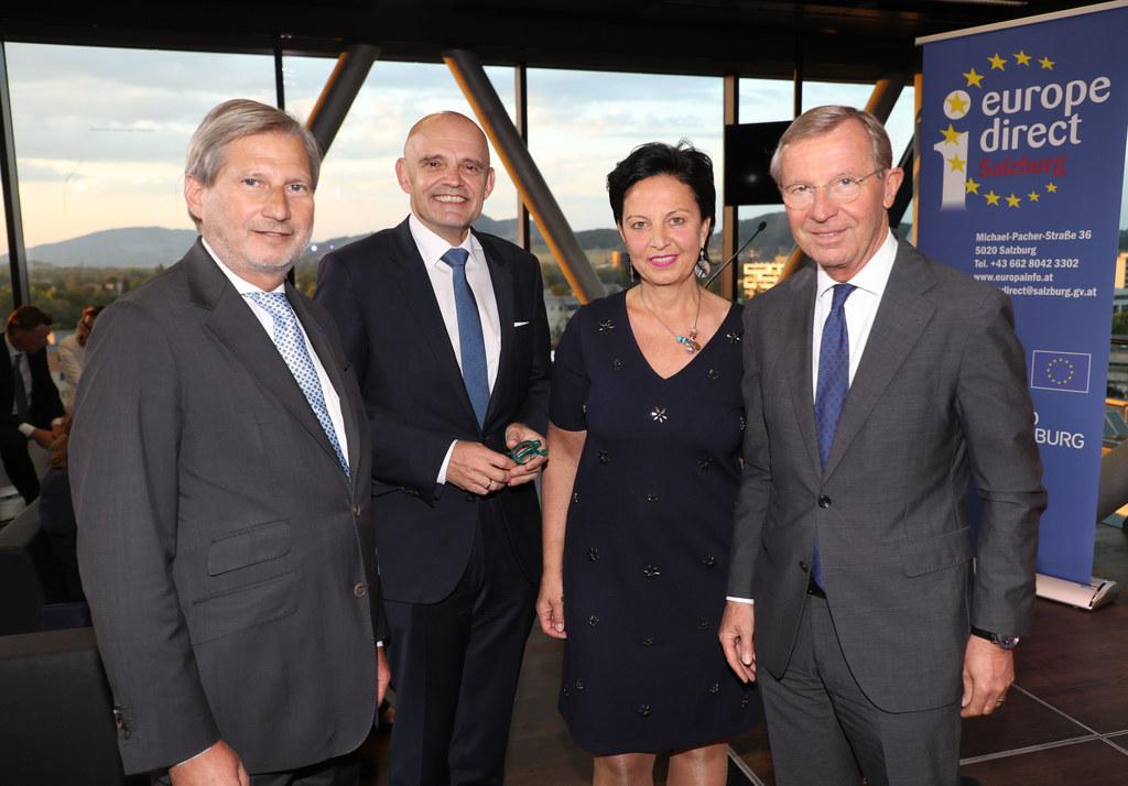 Europa direct, Kamingespräch mit EU Kommissar Johannes Hahn in der Panoramabar S..