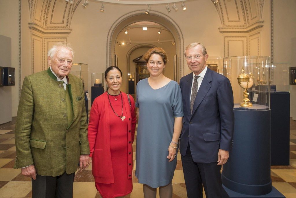 LH Wilfried Haslauer mit Reinhold und Carmen Würth sowie Elisabeth Resmann.