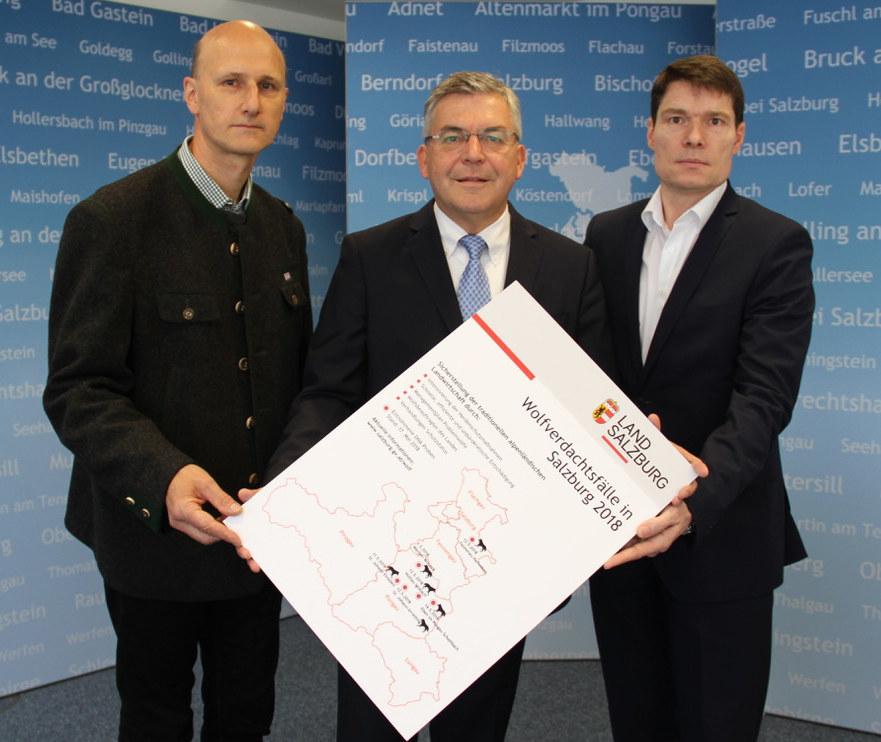 Neues 5-Punkte-Aktionsprogramm des Landes Salzburg. Im Bild: Wolfsbeauftragter H..