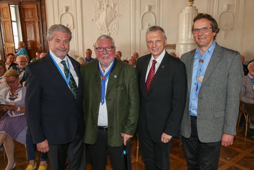 Hans-Georg Keplinger, Präsident der Salzburger Pfadfinder, Helmut Hauer Organisa..
