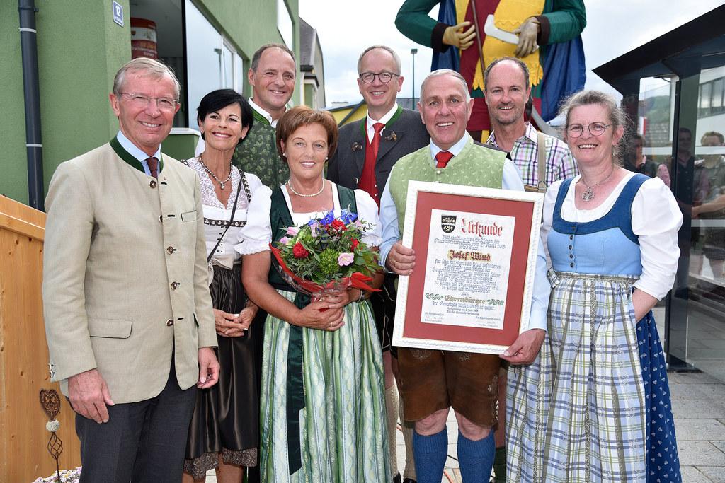 LH Wilfried Haslauer, Sonia und Bürgermeister Peter Sagmeister, Cilli Wind, Bgm...