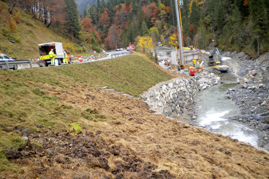 Umbauarbeiten an der B99 Katschberg-Nordrampe.