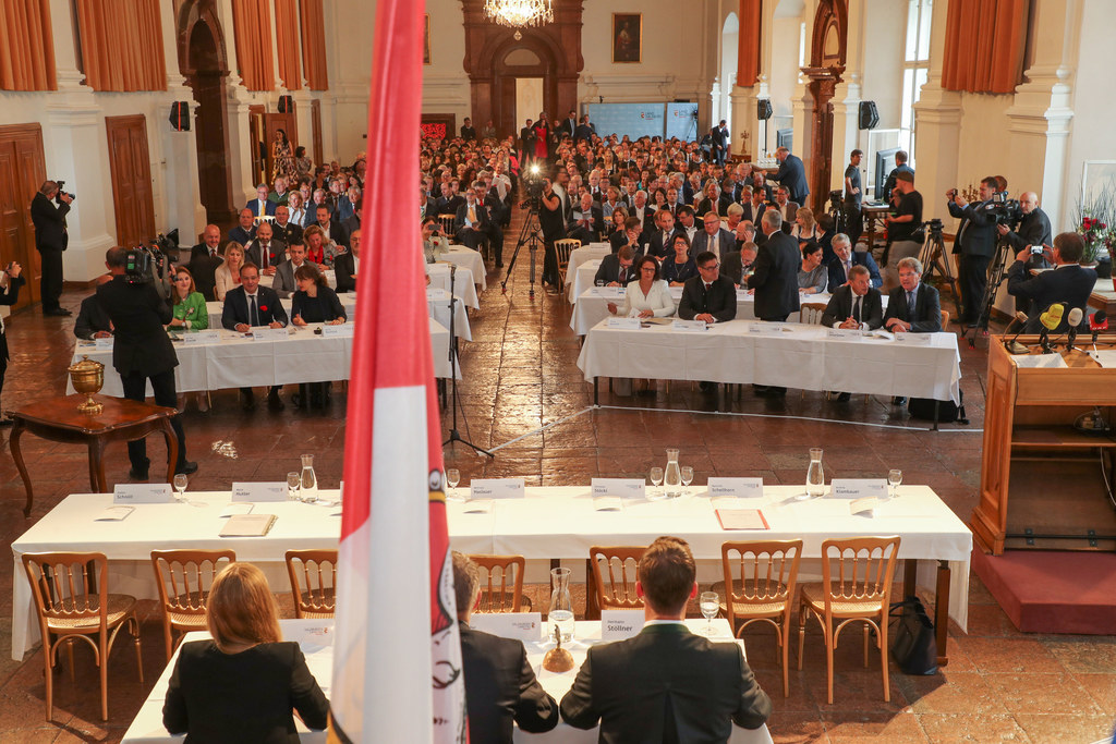 Konstituierende Sitzung des Salzburger Landtages in der Residenz