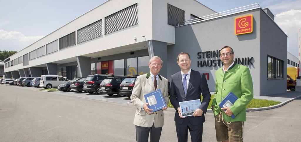Eröffnung des neuen Standorts der Firma Steiner Haustechnik in Bergheim, im Bild..