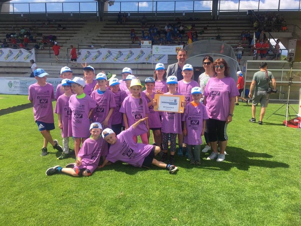 Die Volksschüler aus Lessach erreichten den siebten Platz beim Bundesfinale der ..