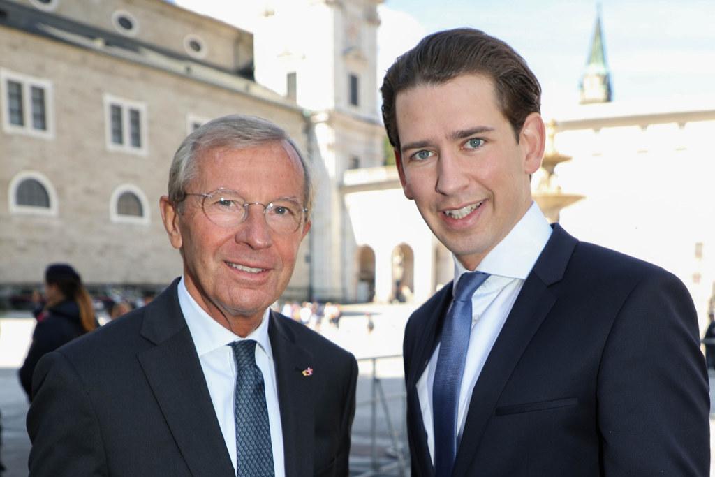 Landeshauptmann Wilfried Haslauer und Bundeskanzler Sebastian Kurz