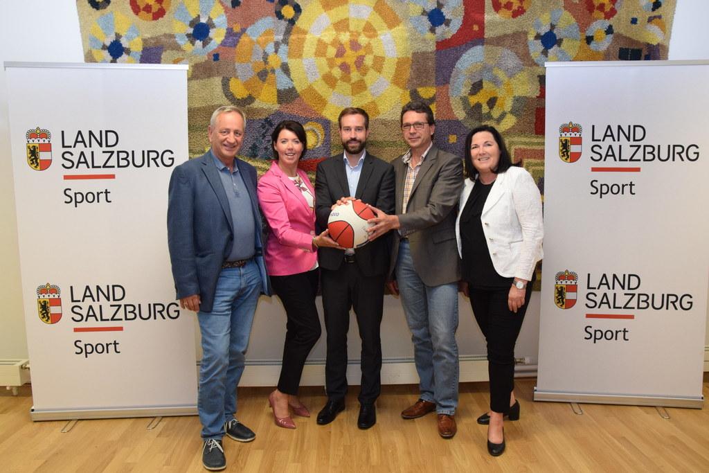 Erste Sitzung des Landessportrats unter Vorsitz von Landesrat Stefan Schnöll im ..