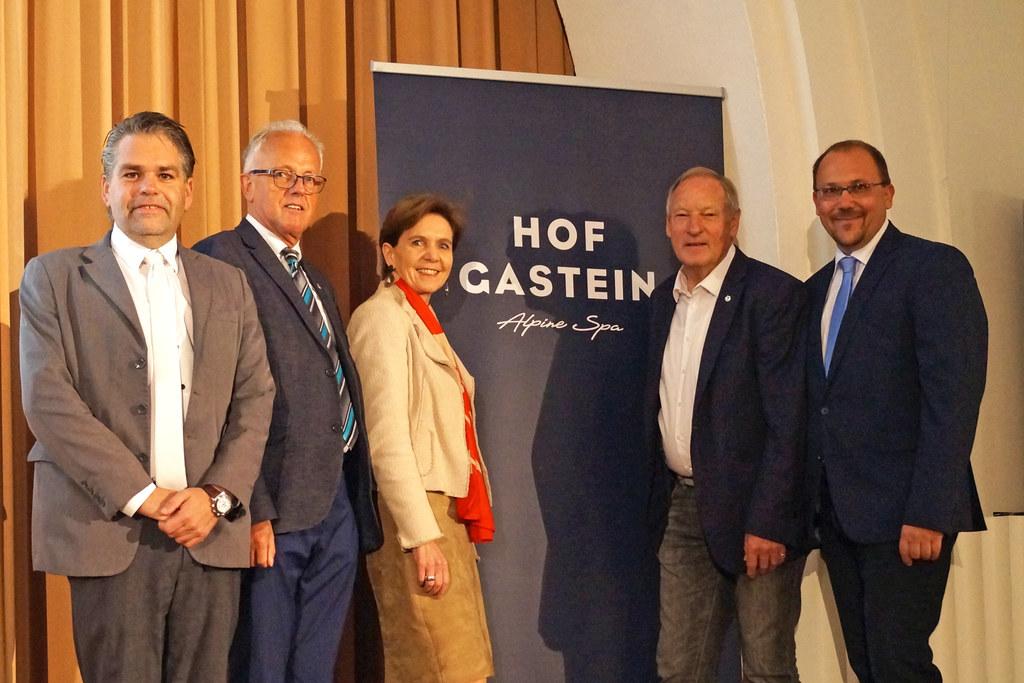 Bad Hofgastein als Gastgeber, im Bild: Amtsleiter Wolfgang Schnöll, Vize-Bgm. Jo..