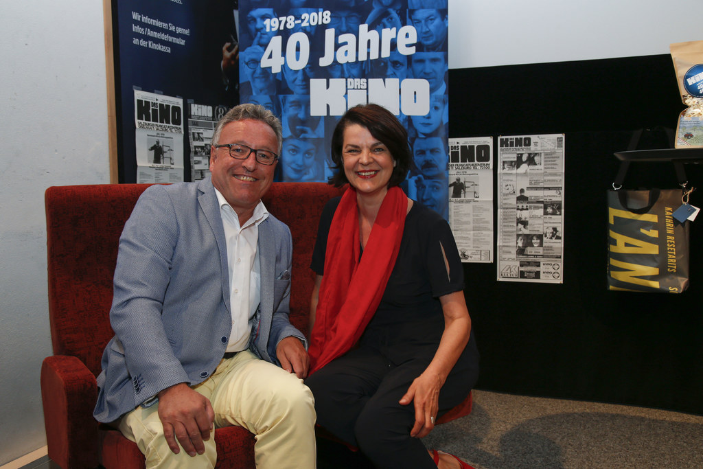 40 Jahre Das Kino, im Bildi: LH-Stv. Heinrich Schellhorn und Renate Wurm, Geschä..