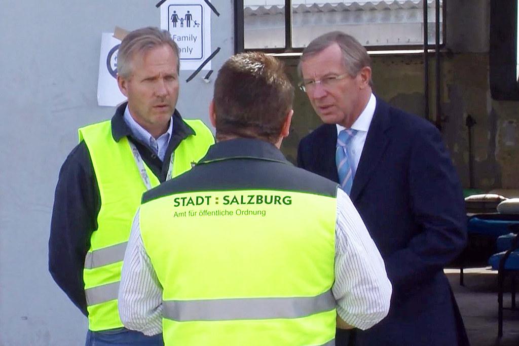 Landeshauptmann Haslauer im Transitquartier des ehemaligen Asfinag-Gelände 2015