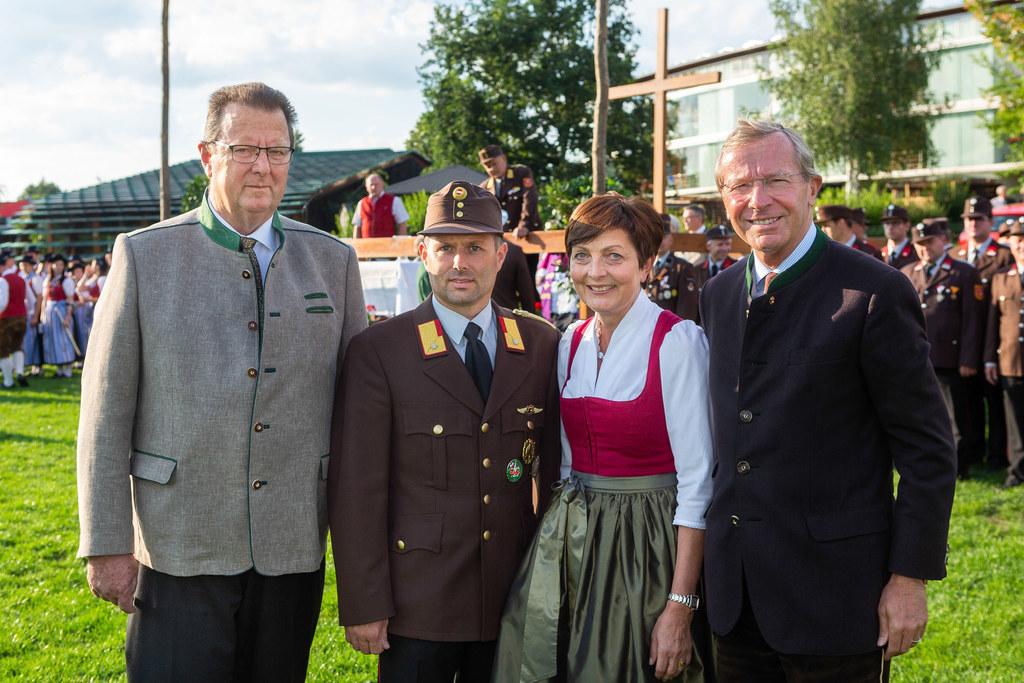 150 Jahre Freiwillige Feuerwehr Straßwalchen, im Bild: Bgm. Friedrich Kreil, OFK..