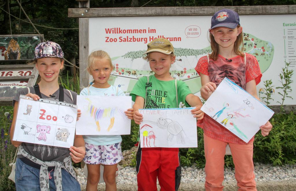 Das Land Salzburg erfüllt Kinderträume. Premiere im Zoo Salzburg mit Sophie (11)..
