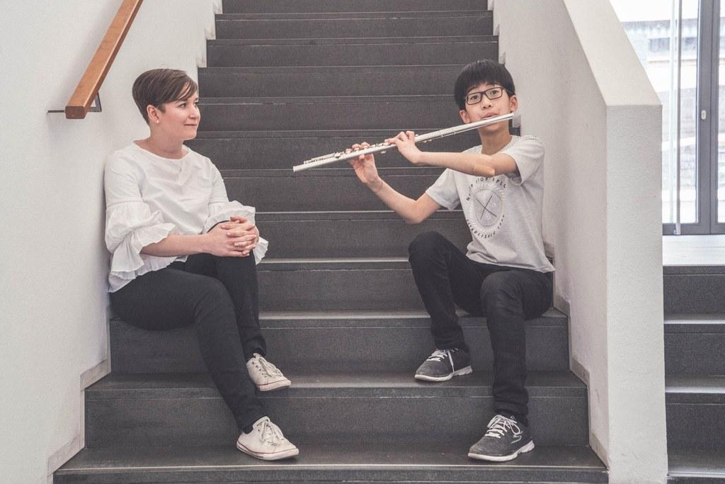 Bloggerin Carolina Hubelnig & Nathan Rinaldy in der Uni Mozarteum