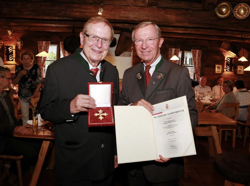 v.l.n.r.: Wilhelm Klepsch , LH Wilfried Haslauer