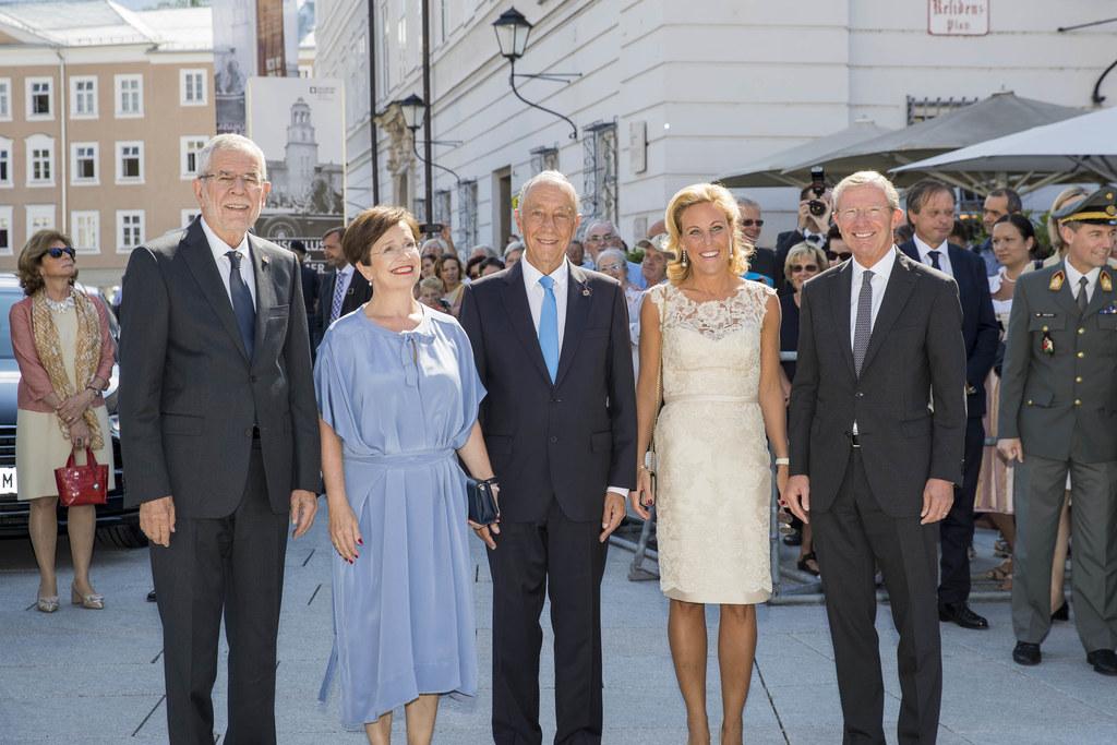 Eröffnung der Salzburger Festspiele, im Bild von links: Bundespräsident Alexande..