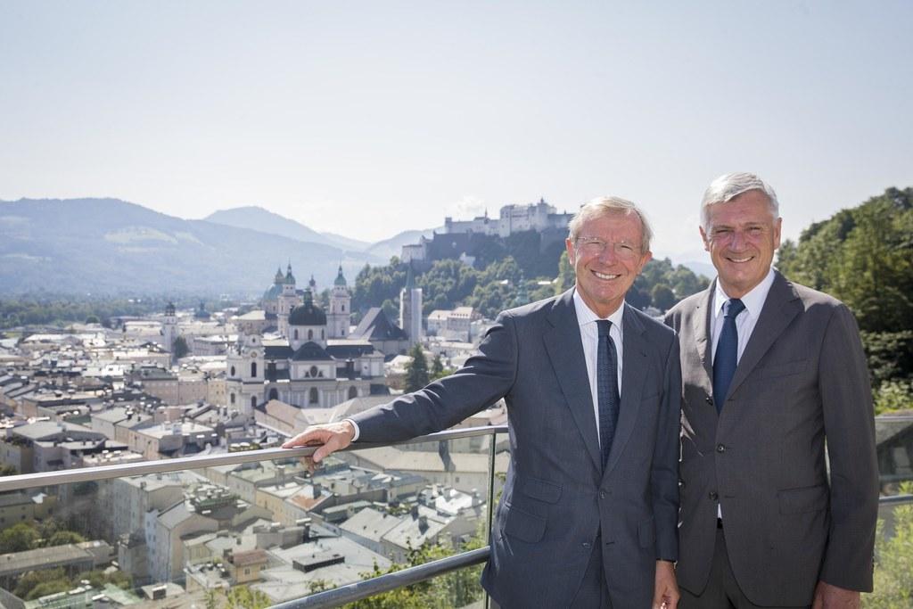 LH Wilfried Haslauer und Bgm. Harald Preuner werden die Staatsspitzen der Europä..