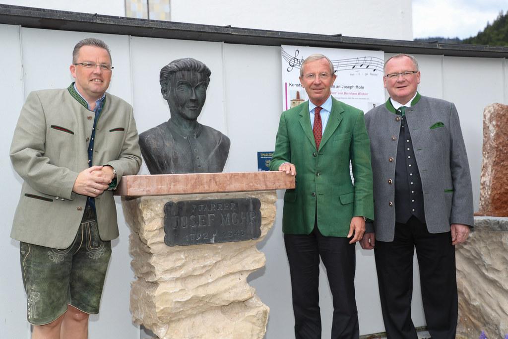 Eröffnung des  Joseph-Mohr-Gedenkwegs in Hintersee, Im Bild: Albert Ebner (Initi..