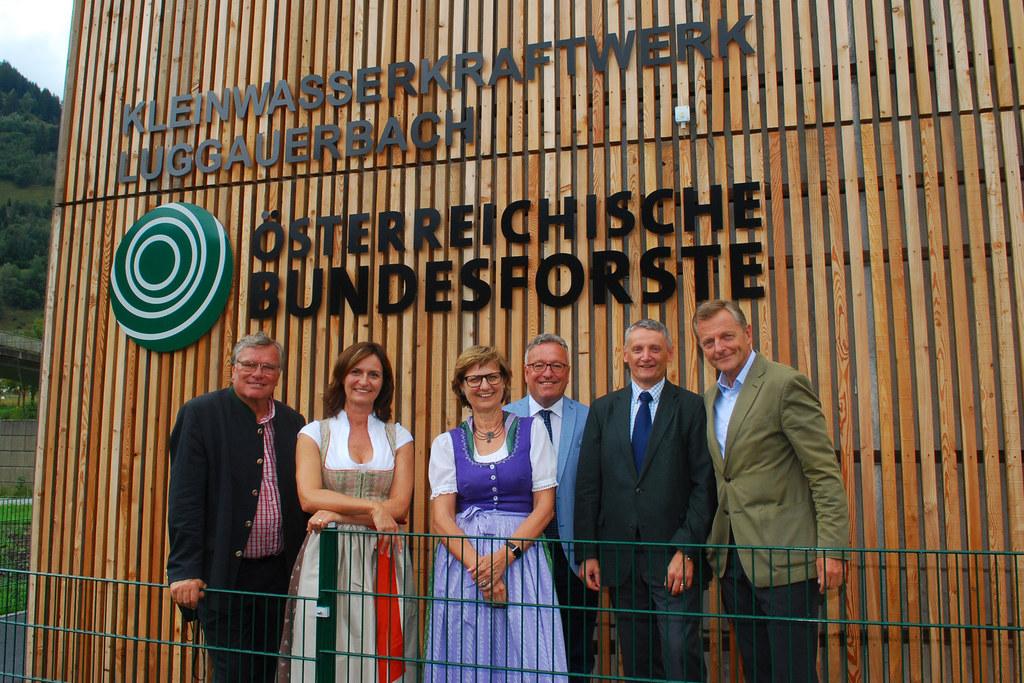 Eröffnung des Kleinwasserkraftwerks Luggauerbach in Dorfgastein-Luggau, im Bild:..