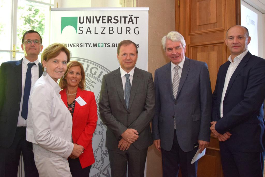 19. Salzburger Telekom Forum auf der Edmundsburg  v.l.n.r.: Günter Herzig (Uni..
