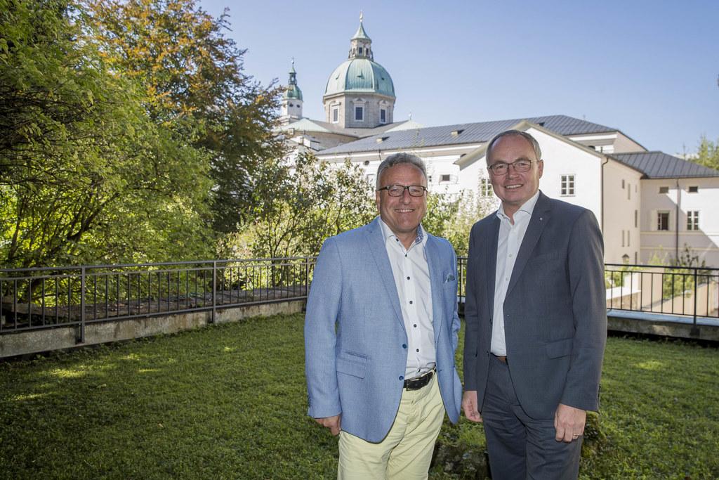 Landeshauptmann-Stellvertreter Heinrich Schellhorn und  Landeshauptfrau-Stellver..