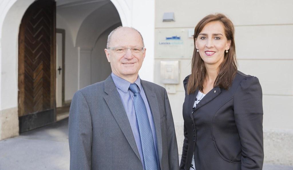 LR Maria Hutter und Bildungsdirektor Rudolf Mair präsentierten die aktuellen Sch..