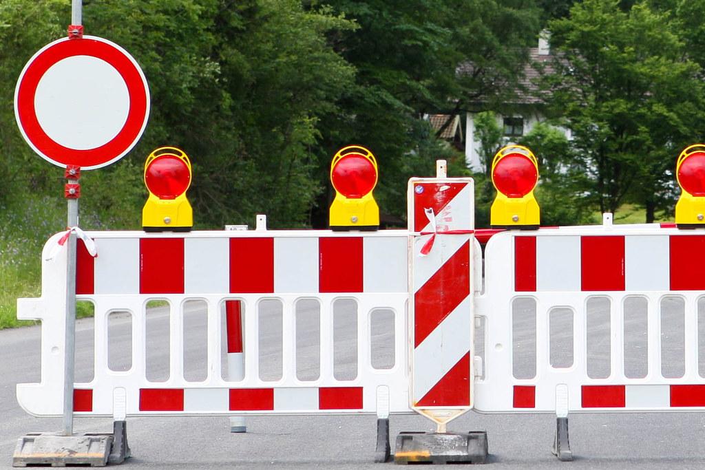 Wegen Sanierungsarbeiten ist die Salzachtalstraße beim Pass Lueg bis zum 25. Nov..