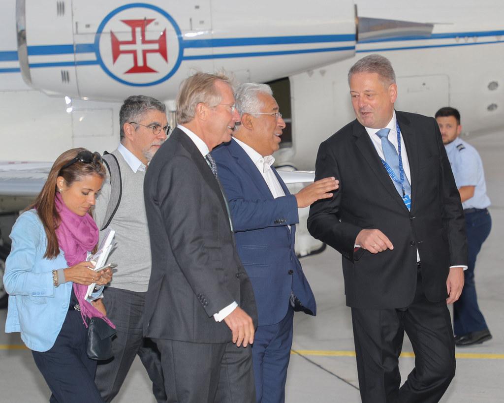 Ankunft des Premierministers von Portugal, António Costa, am Flughafen Salzburg,..