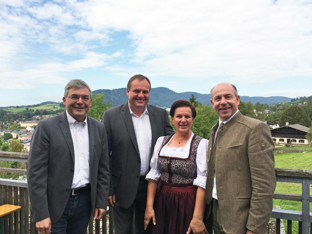 Leader-Treffen Salzburg und Oberösterreich in Mondsee, im Bild: die Landesräte M..