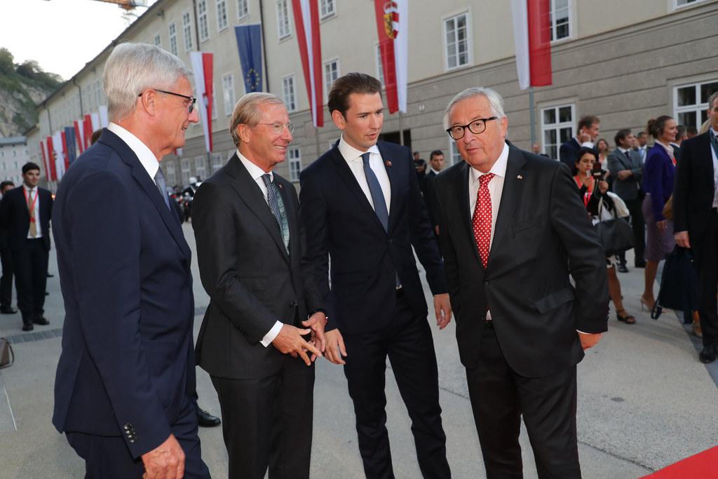 Abendempfang im Festspielhaus Salzburg, im Bild: Bürgermeister Harald Preuner, L..