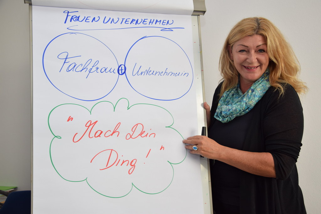 Ihr Know-how ist gefragt: Andrea Kirchtag berät und begleitet Frauen bei der Unt..