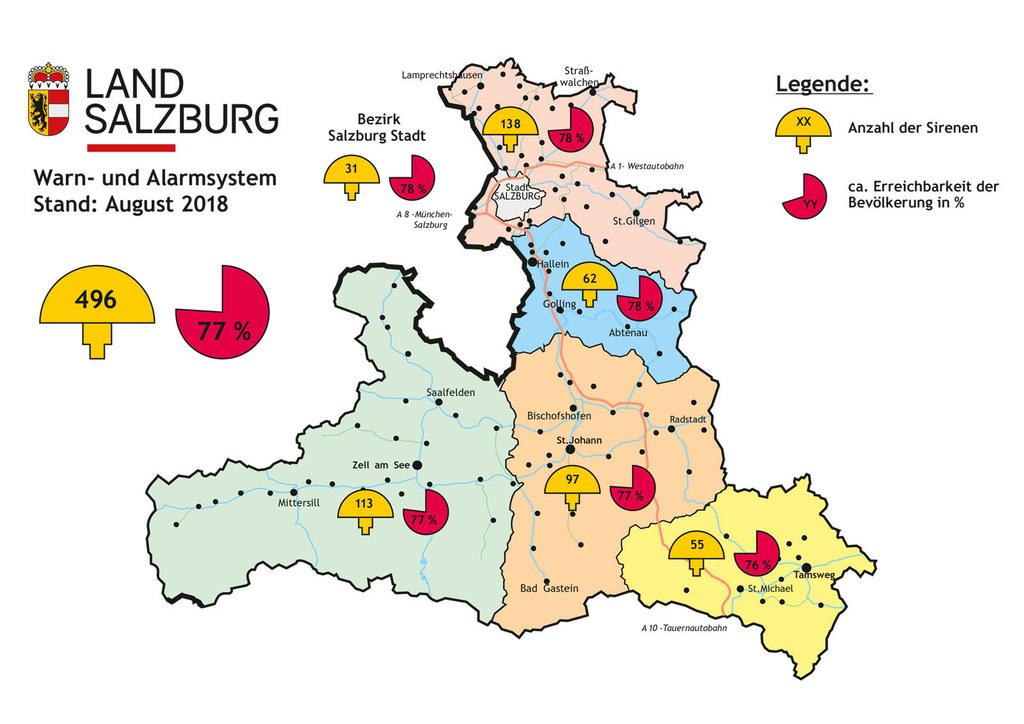 496 Sirenen gibt es im Land Salzburg. Sie werden am Samstag, 6. Oktober, geteste..