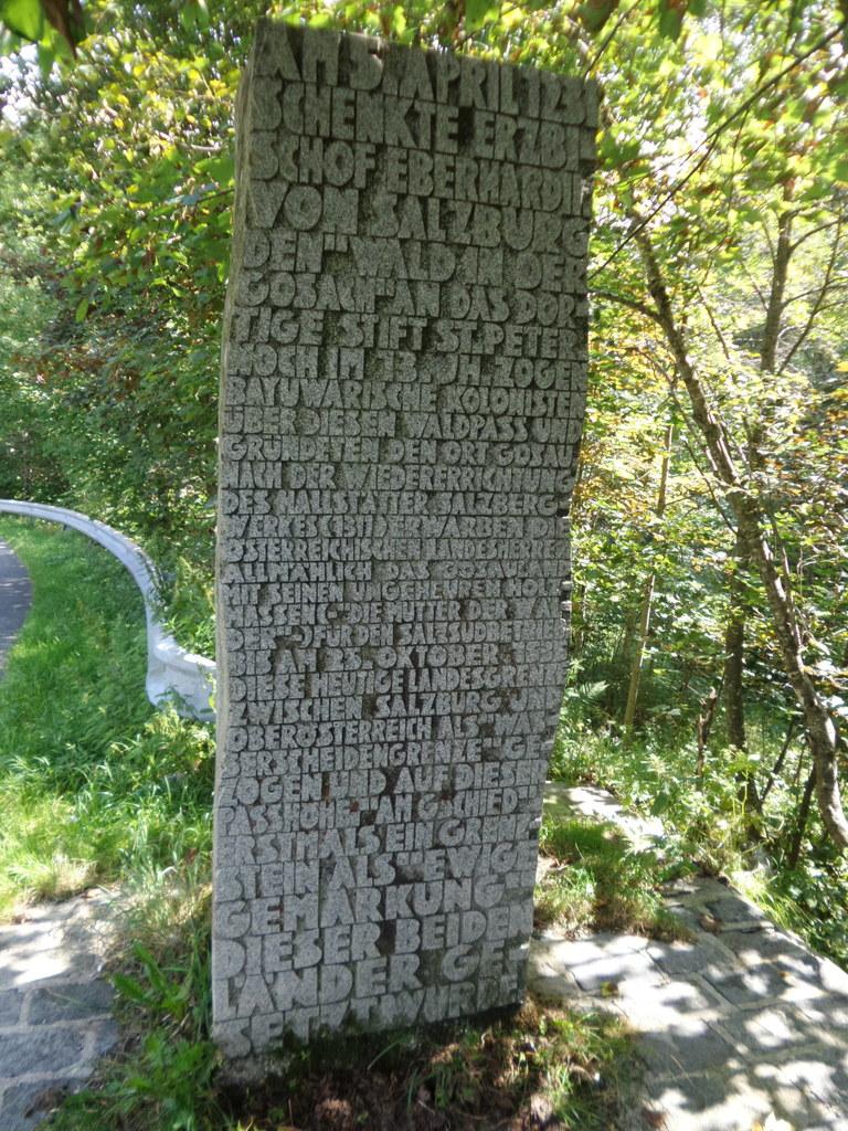 Seit mehr als 700 Jahren bildet der Pass Gschütt die Landesgrenze zu Oberösterre..