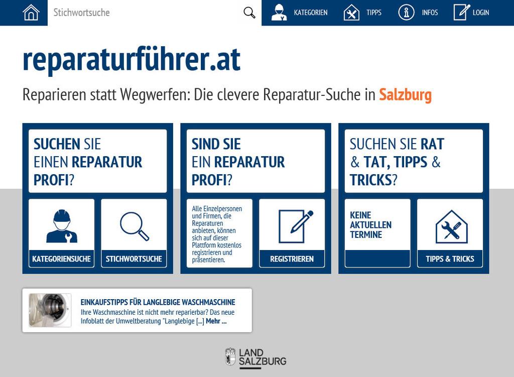 Der neue online Reparaturführer hilft bei der Suche nach Firmen, die Kaputtes sc..