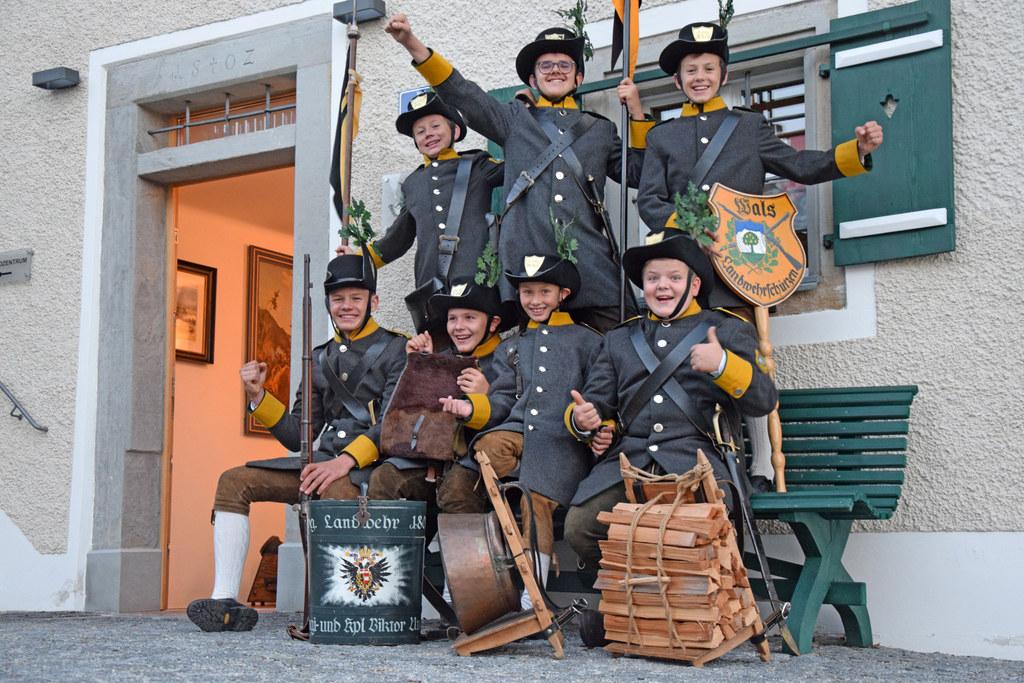 Walser Jungschützen sind für den großen Aufmarsch in Wien gewappnet.