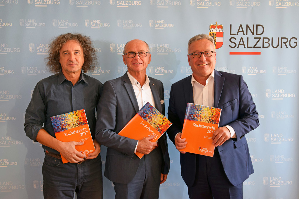 Franz Schabus-Eder (Suchtkoordinator des Landes), LH-Stv. Christian Stöckl und L..