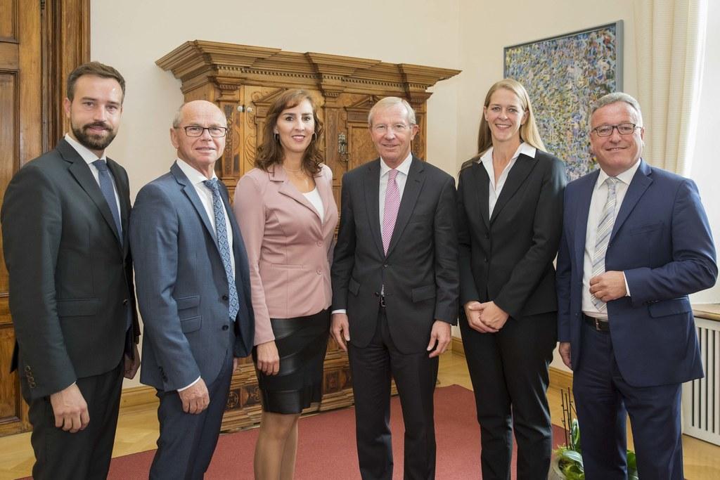 Die Salzburger Landesregierung hat sich auf das Budget 2019 geeinigt, im Bild:  ..
