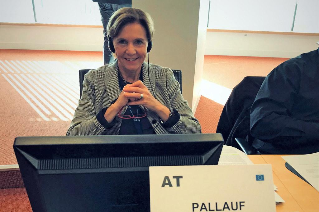 Landtagspräsidentin Brigitta Pallauf macht sich im Ausschuss der Regionen für gr..