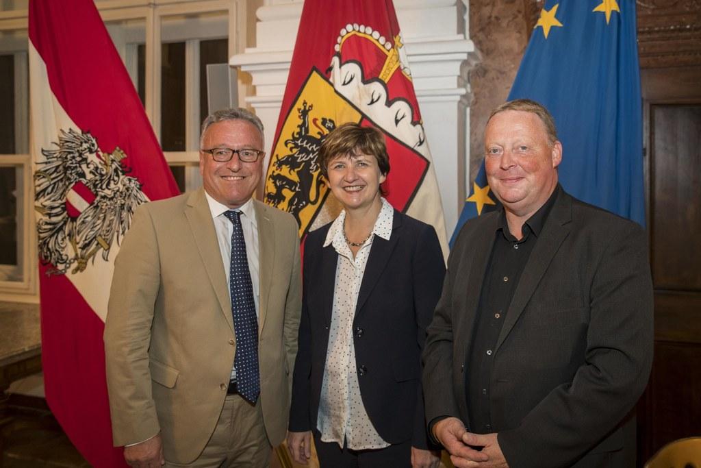 Salzburger Pflegekongress 2018, im Bild: LH-Stv. Heinrich Schellhorn, Lucia Grei..
