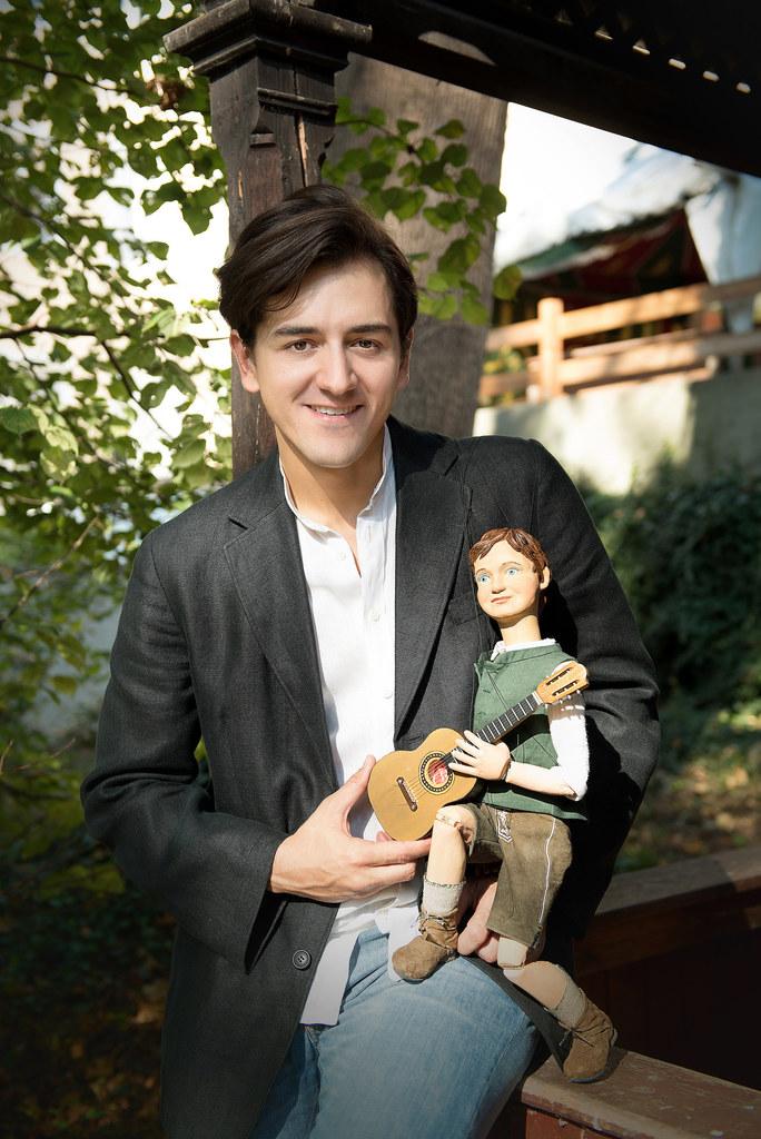 Hanno Waldner vom Salzburger Landestheater und sein kleiner