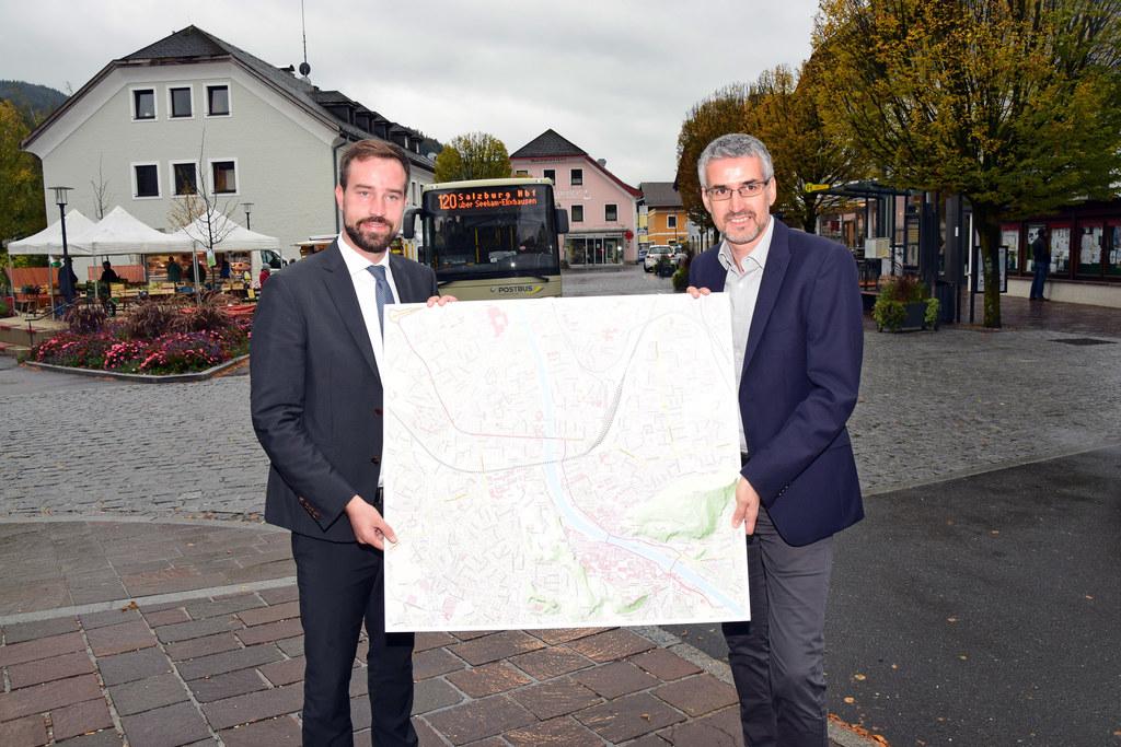 Vom Flachgau geht es künftig deutlich schneller durch die Stadt. Landesrat Stefa..