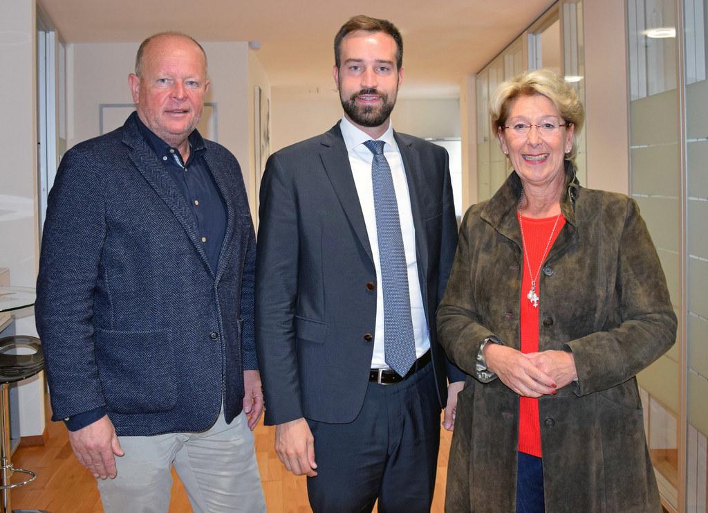 Vizebürgermeister Konrad Pieringer, Landesrat Stefan Schnöll und Bürgermeisterin..