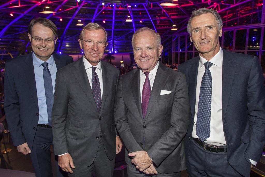 Industrie- und Zukunftsforum: Gerhard Drexel, Spar; LH Wilfried Haslauer; Helmut..