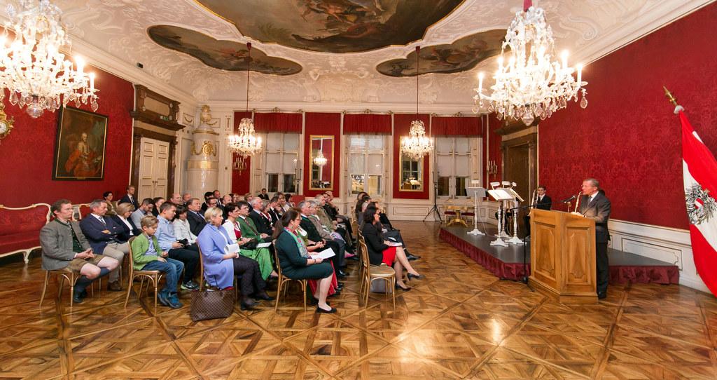 Bürgermeisterehrung in der Salzburger Residenz.