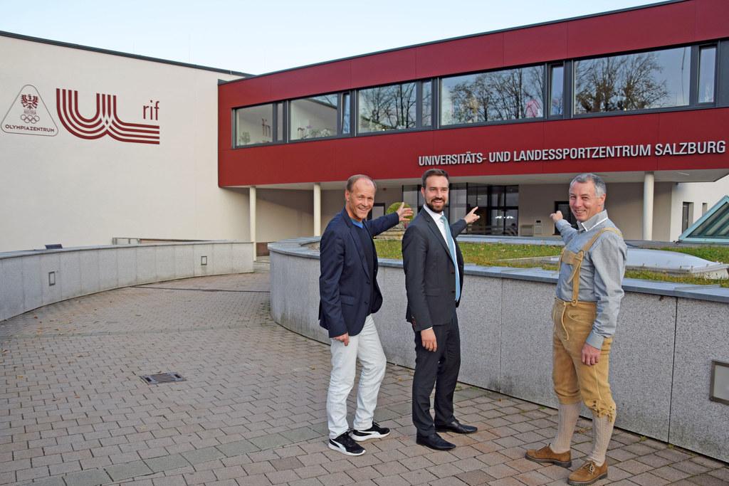 Rif-Direktor Wolfgang Becker, Landesrat Stefan Schnöll und Andreas Suntinger vom..