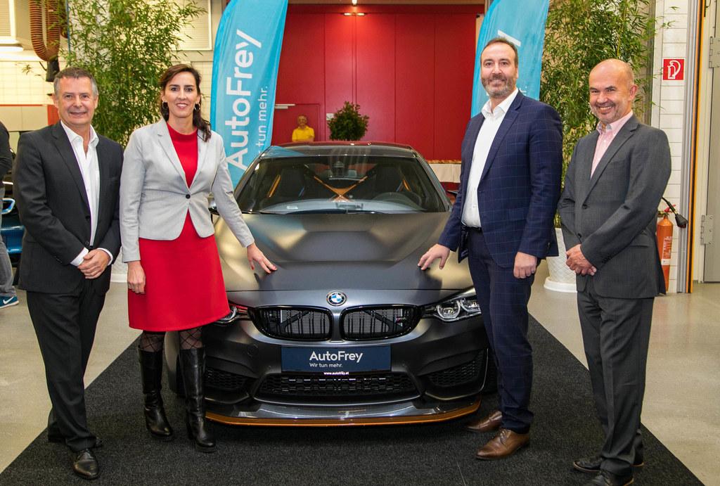 1.000 PS für die Landesberufschule, im Bild: AutoFrey Geschäftsführer Josef Roid..