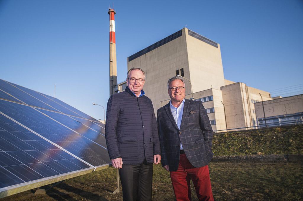 Die beiden Landeshauptmann-Stellvertreter Stephan Pernkopf und Heinrich Schellho..