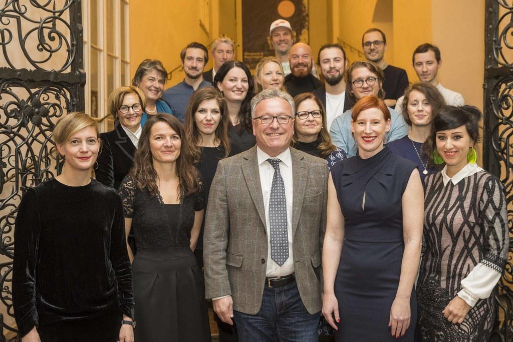 Kunstpreisverleihung 2018 des Landes Salzburg, LH-Stv. Heinrich Schellhorn mit a..