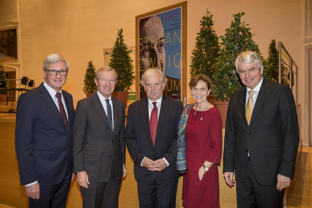 Festakt  10 Jahre Stefan Zweig Centre Salzburg: Bgm. Harald Preuner, LH Wilfried..
